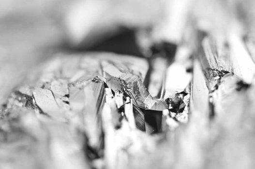 Black and white background of the quartz surface. Macro